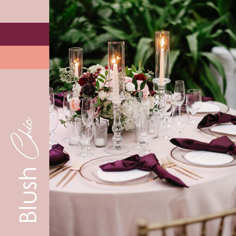 Theme mariage 2021 Blush Chic