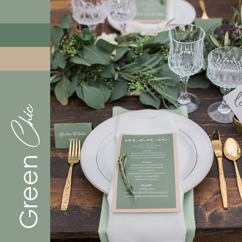 Theme mariage 2021 Green Chic