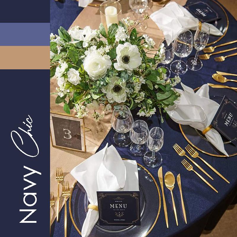 Theme mariage 2021 Navy Chic