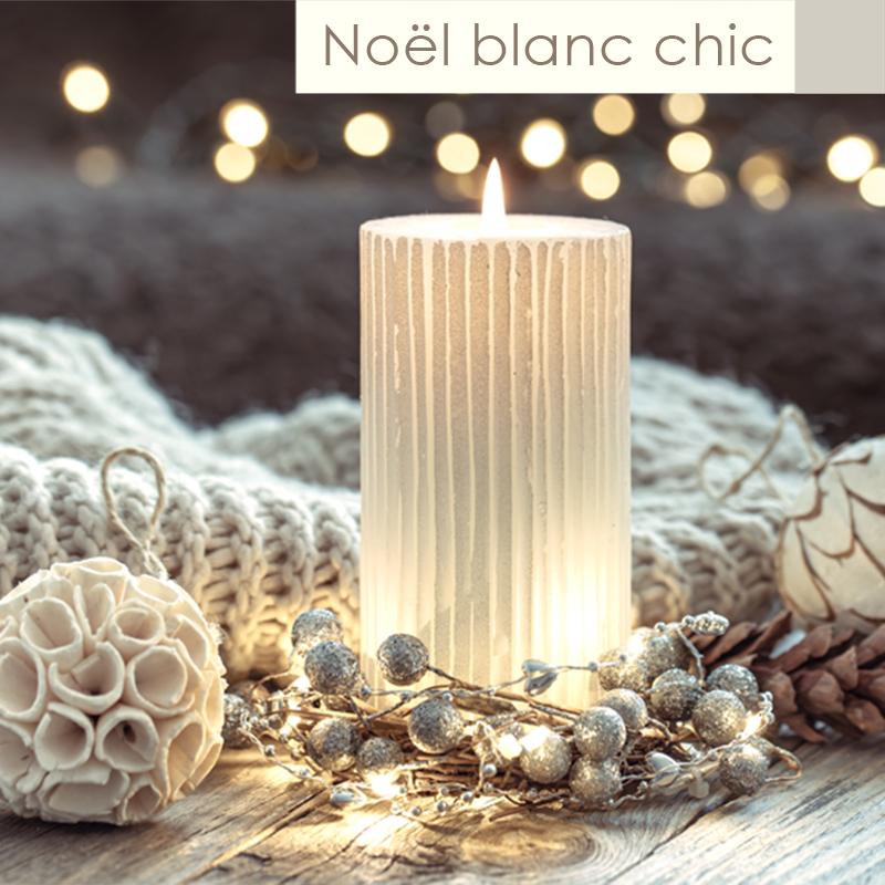 Theme Noël 2021 blanc chic