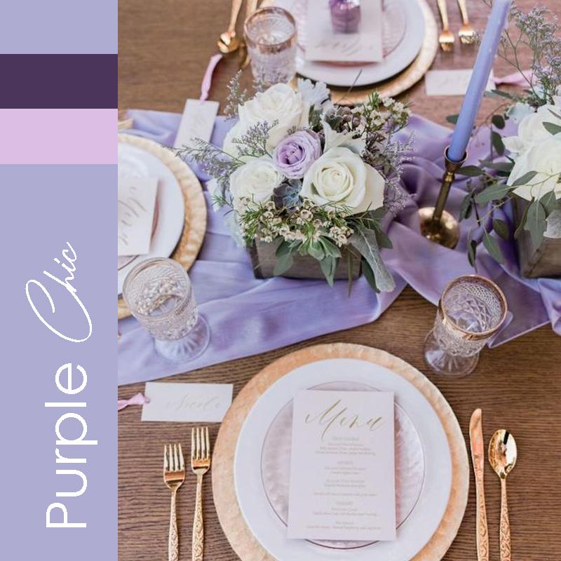 Theme mariage 2021 Purple Chic
